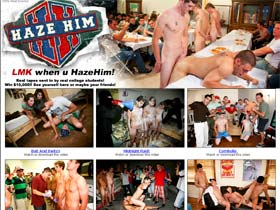 Welcome to Haze Him - cute students in real gay sex!
