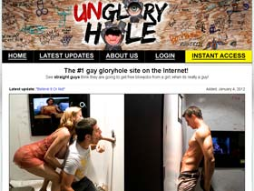 Welcome to Un Glory Hole - straight guys make blowjob by gays!
