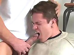 Horny gay drives big cock in mouth of lad