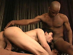 Black stud gets his cock suck by that cute guy in this video