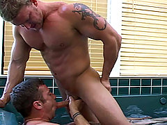 Trevor gets to insert his big hard cock in to Marcus's ass.