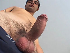 Young & straight guy masturbating himself for some money