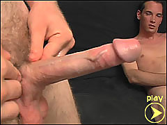 Straight boys get hard and jerk off together