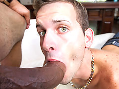 This green eyed white boy loves a big meaty cock!