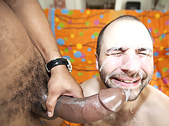 a face full of massive cock