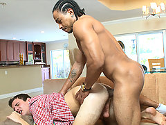 Young stud gets fucked doggy by castros huge cock